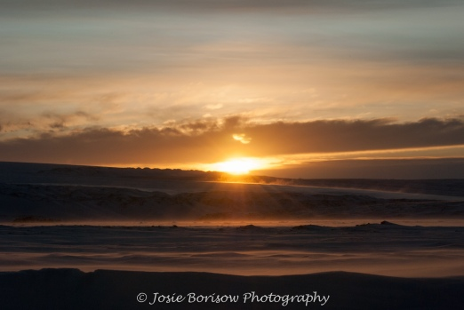 1st Arctic Sunrise of the Year Feb 2011, Photo by JosieB
